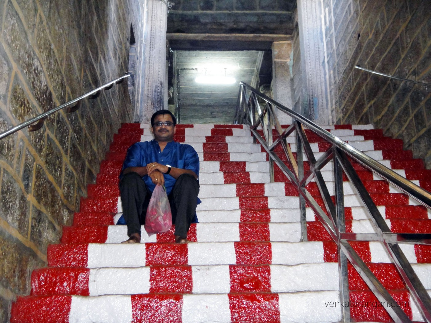 Steps going to the top of Trichy Rockfort temple (திருச்சி உச்சி விநாயகர் கோயில்)