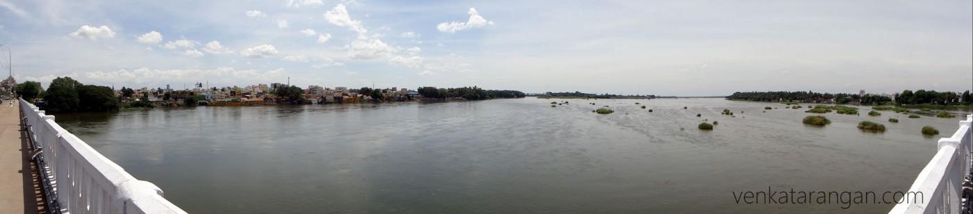 Panoramic view from Cauvery Bridge (காவேரி பாலம்)