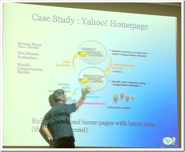 (They have two Hadoop clusters for Yahoo! Homepage – Science and Production)