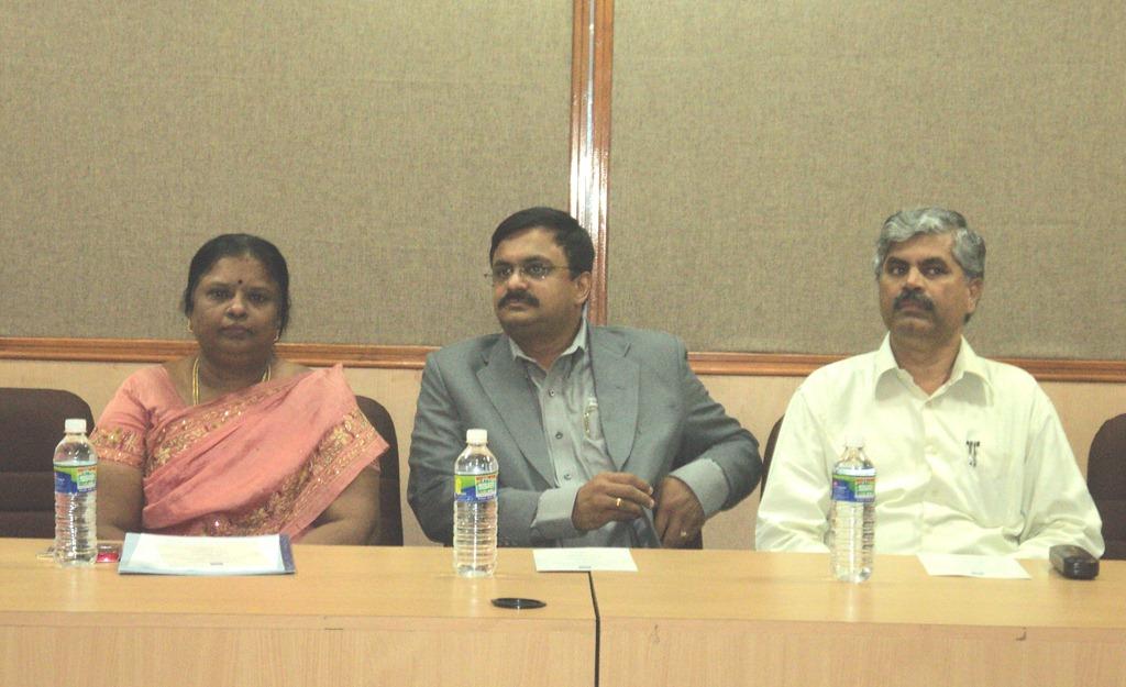 Dr.G.V.Uma (HOD Dept of IST, Anna University), T.N.C.Venkata Rangan, Dr.S.Shanmugavel (Registrar Anna University)