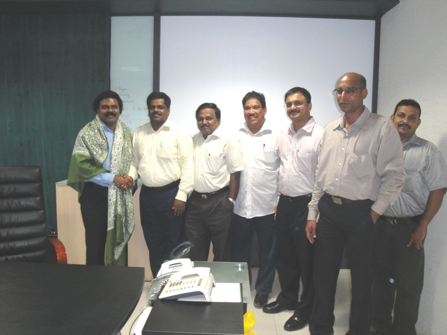 Seen above - Dr.Santosh Babu, Mr.Anto Peter, Mr.Anandan, Dr.Arul Natarajan, T.N.C.Venkata Rangan, Mr.Paul, Mr.Benny
