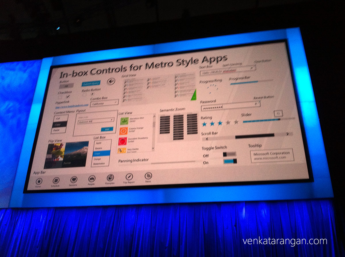 In-box controls for metro style apps