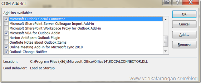 Microsoft Outlook Social Connector