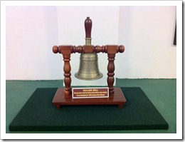 Calling bell to call station master - Bangalore City Station Museum