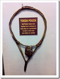 Token Pouch used as token by drivers - Bangalore City Station Museum