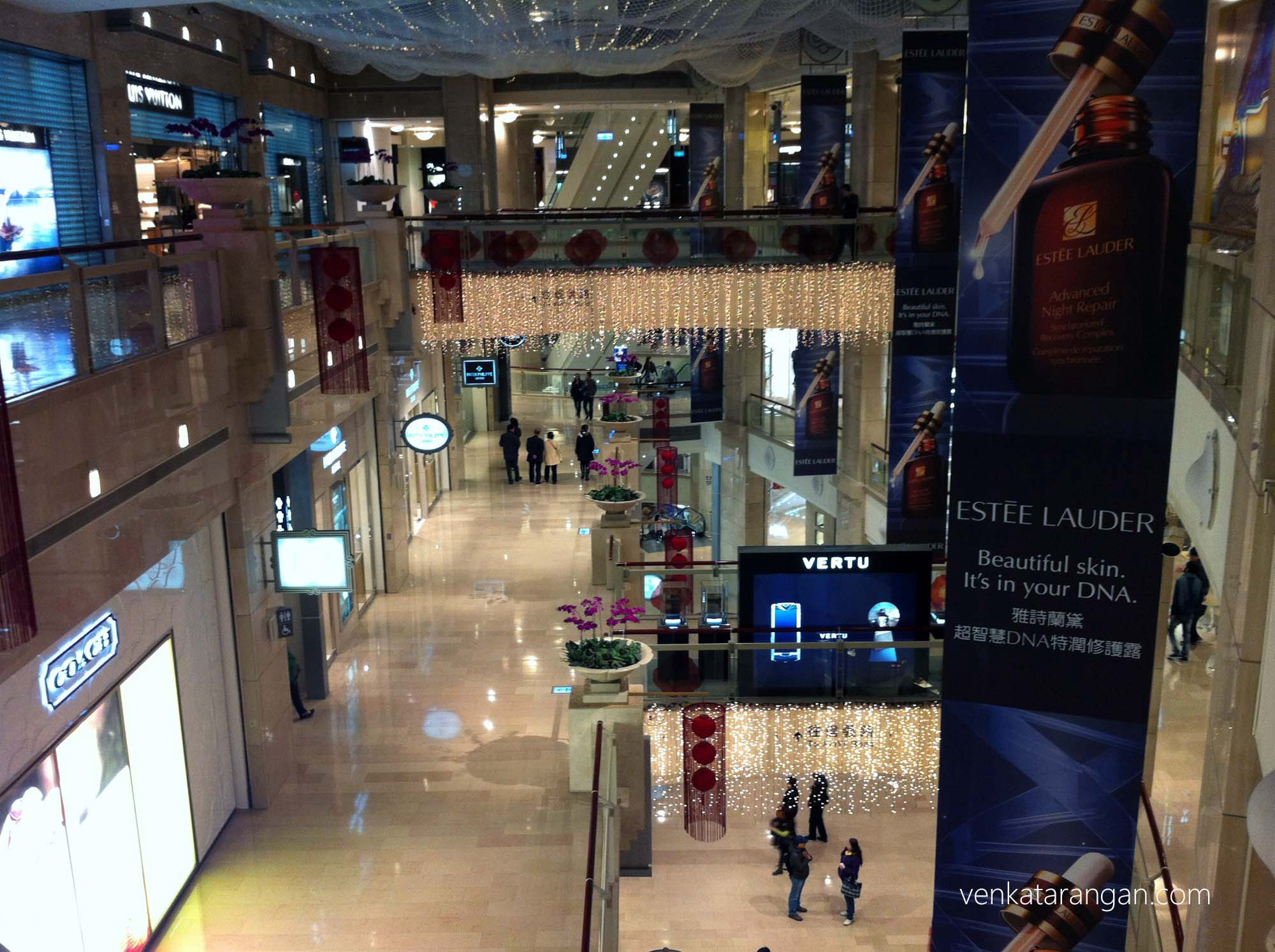 Luxury shops inside Taipei 101