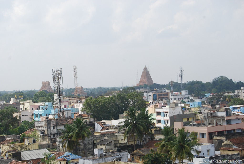 View from top of tower in Thanjavur Palace