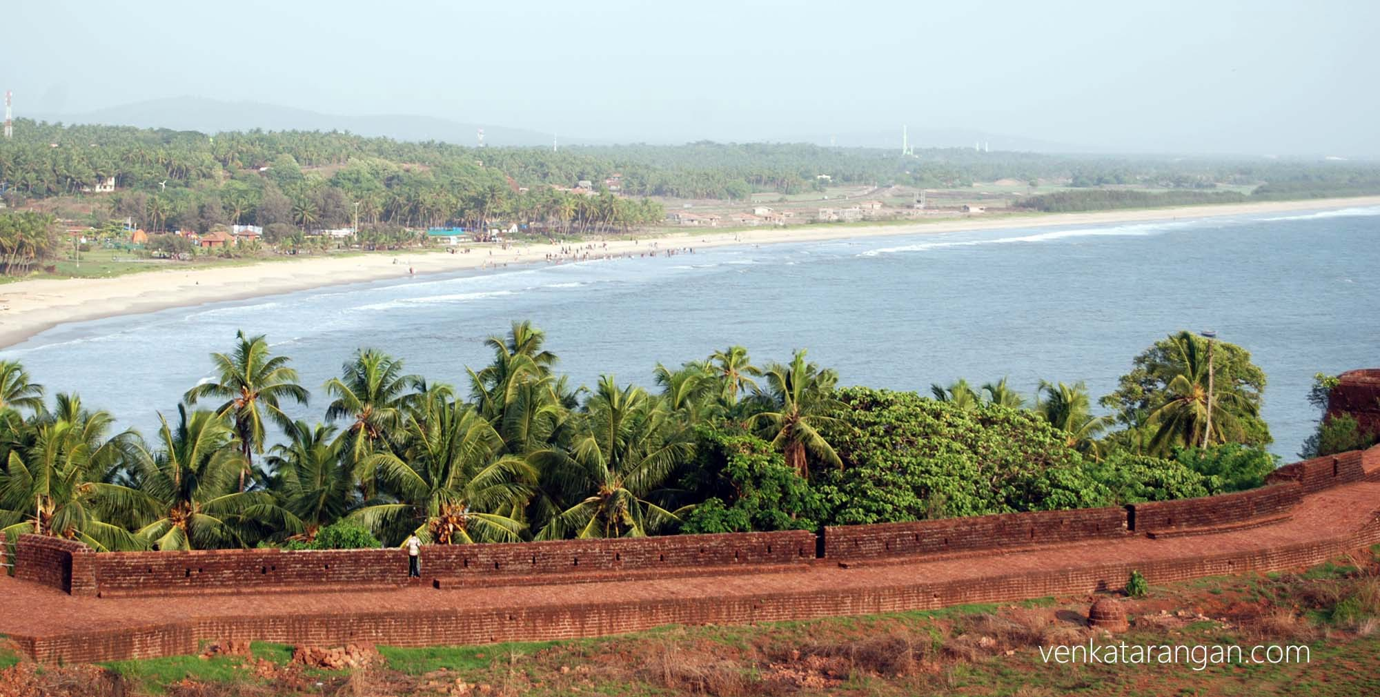Bekal fort - beach shore view