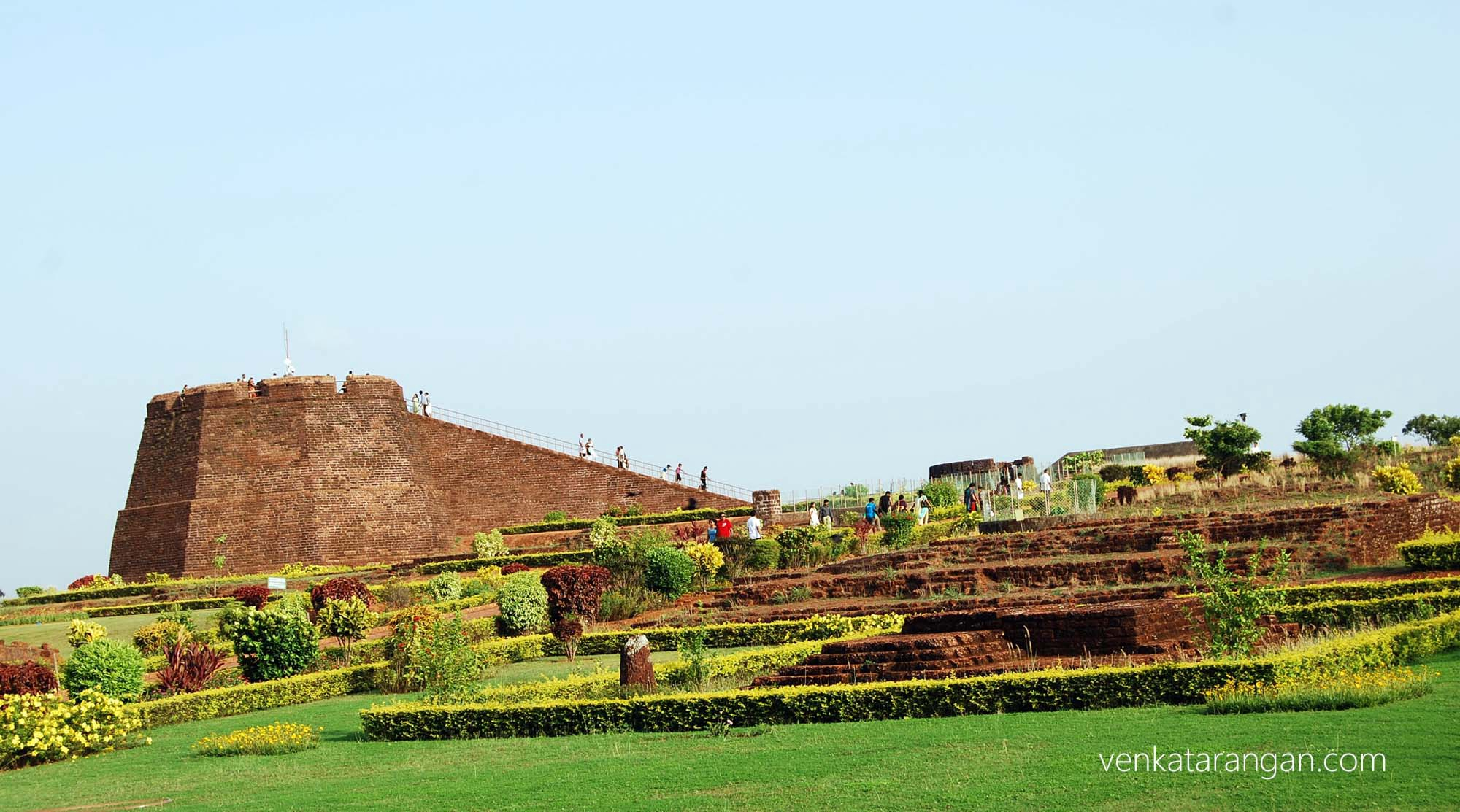 Bekal fort - manicured garden