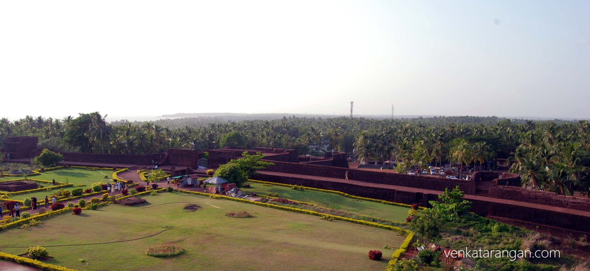 Bekal fort's outer walls are tall