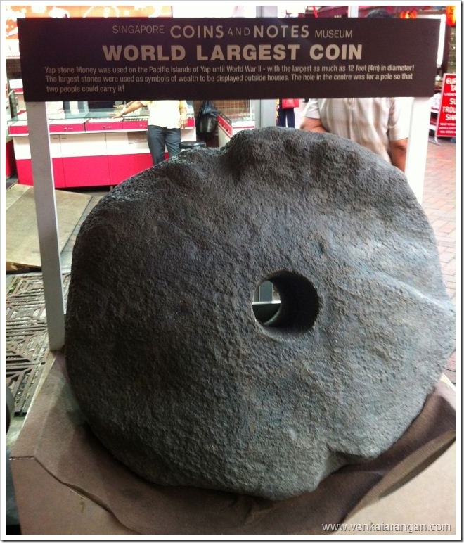 World Largest coin in Singapore Coins and Notes Museum