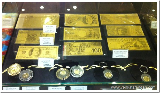 World Currency in Gold Paper