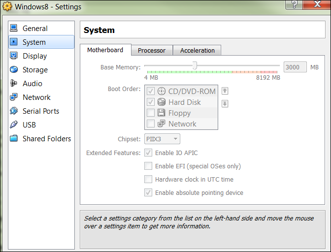 VirtulBox-Windows8-System-Motherboard Settings