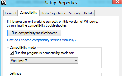 HP OfficeJet Pro in Windows8 - setup.exe