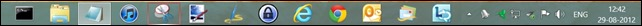 Frequently used Desktop Applications that are pinned in TaskBar