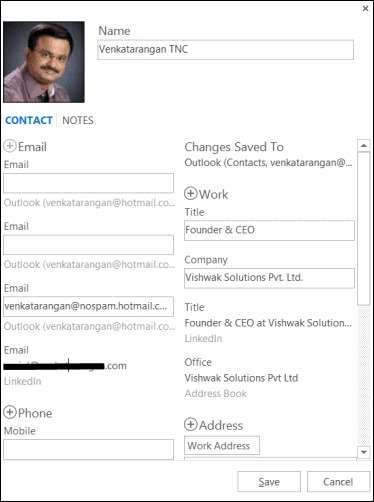 Outlook-social-contact-editor