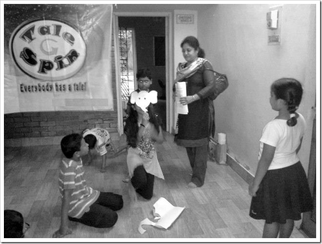 Tale spin (part of Storytelling association) session in progress