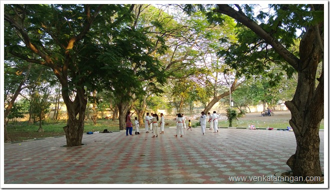 Anna Nagar Tower Park - Kids practicing Karate