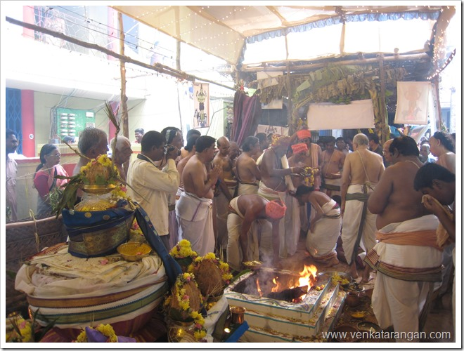 Homam at Sri Lakshmi Hayagriva Temple, Pondicherry