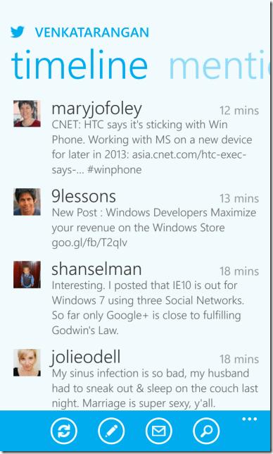 Older version of twitter app for Windows Phone