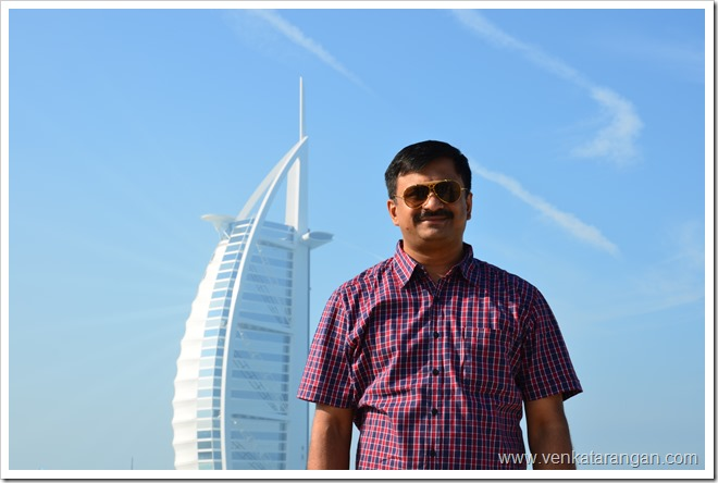 In front of Burj Al Arab