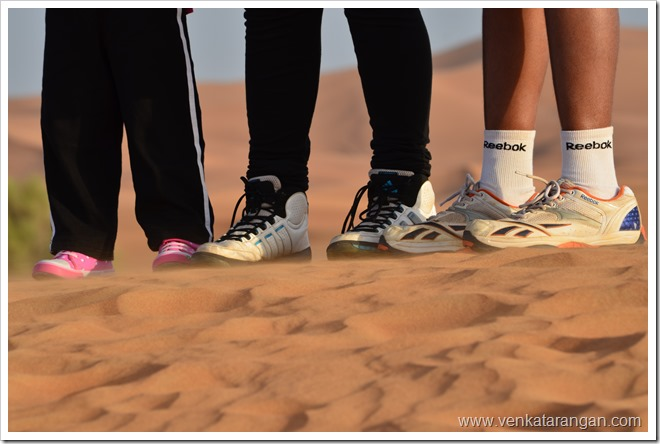 Shoes of Kids in Dubai Desert Safari