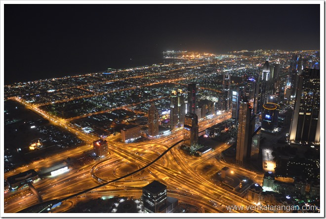 View of Dubai Roads from top of Burj Khalifa Tower, Dubai