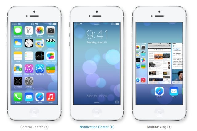iOS7 Beta Screenshot from Appledotcom