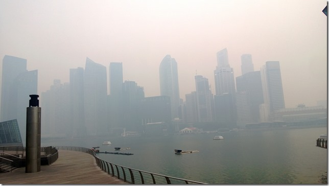 Singapore was covered with haze for last 3 days due to the Indonesian Forest fires