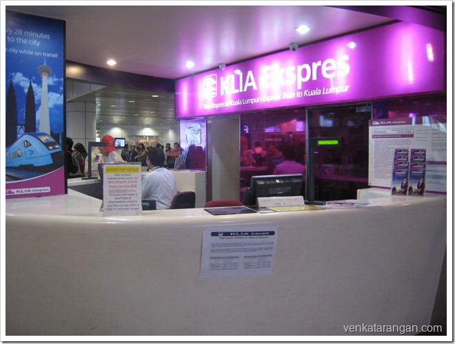 KLIA Express Booking Counter