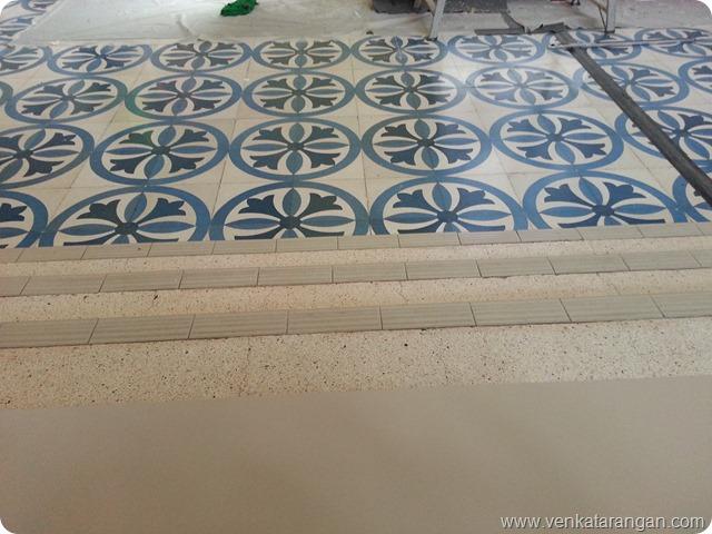 Floor tiles in Central Market,Kuala Lumpur