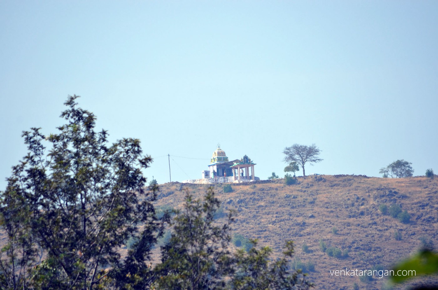 Lord Ganesa's temple over a hilltop
