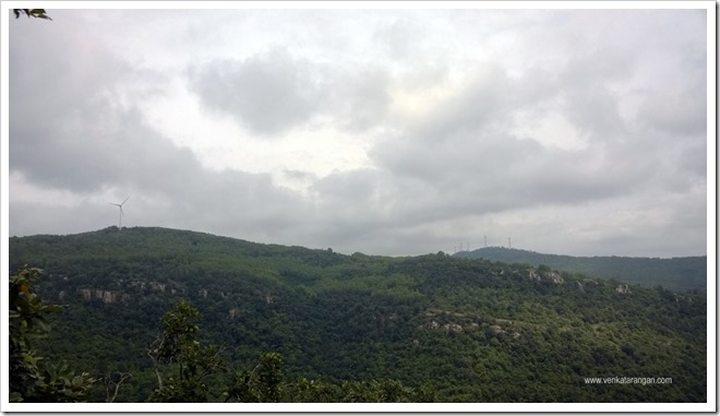 The scenery in the hills are beautiful, in the right top you can see a windmill