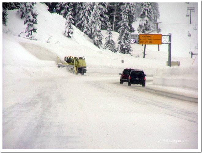 Snow on highway