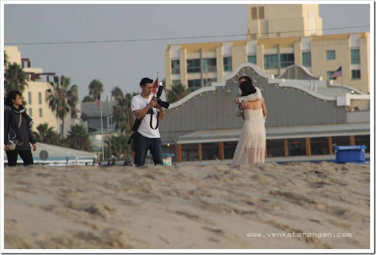 Couple photo session in Santha Monica Pier