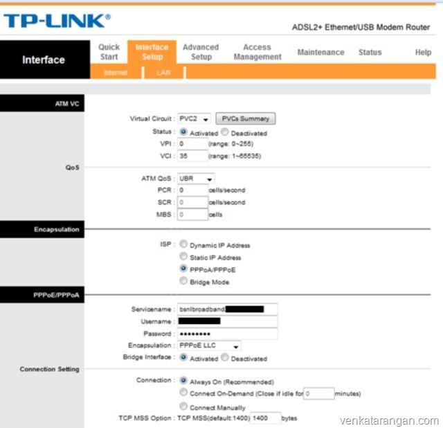 BSNL-DSL-TPLink-Modem