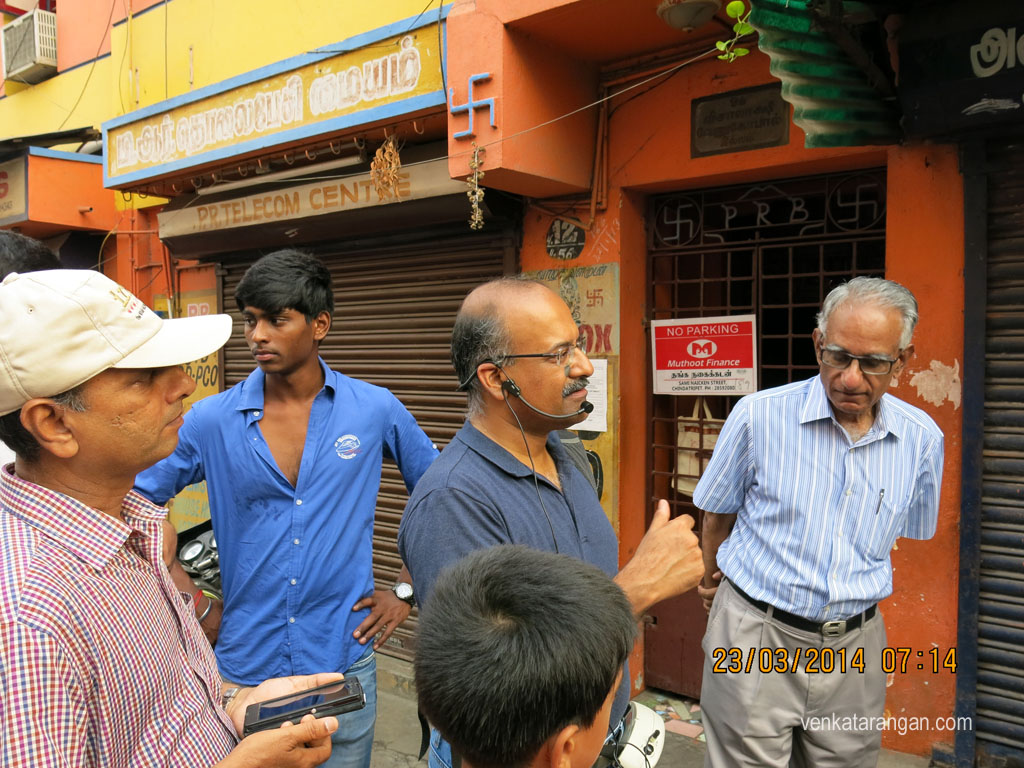 Mr Sriram V explaining the place and narrating its history