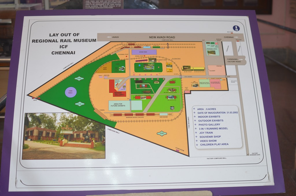 Layout of Regional Rail Museum, ICF, Chennai