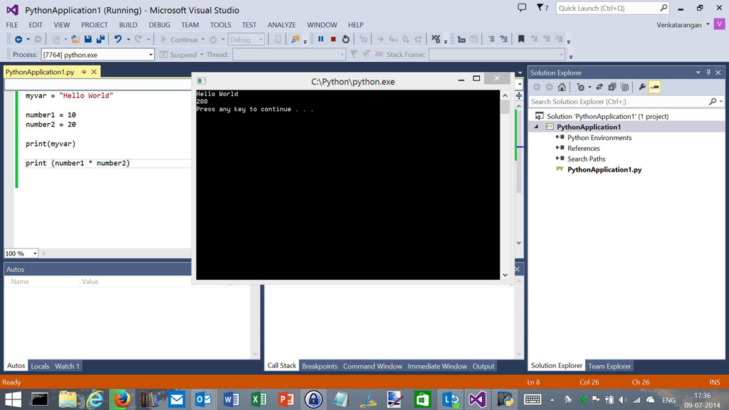 iron python programming with visual studio 2013