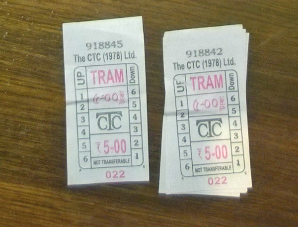 Tram ticket was Rs.5 one-way