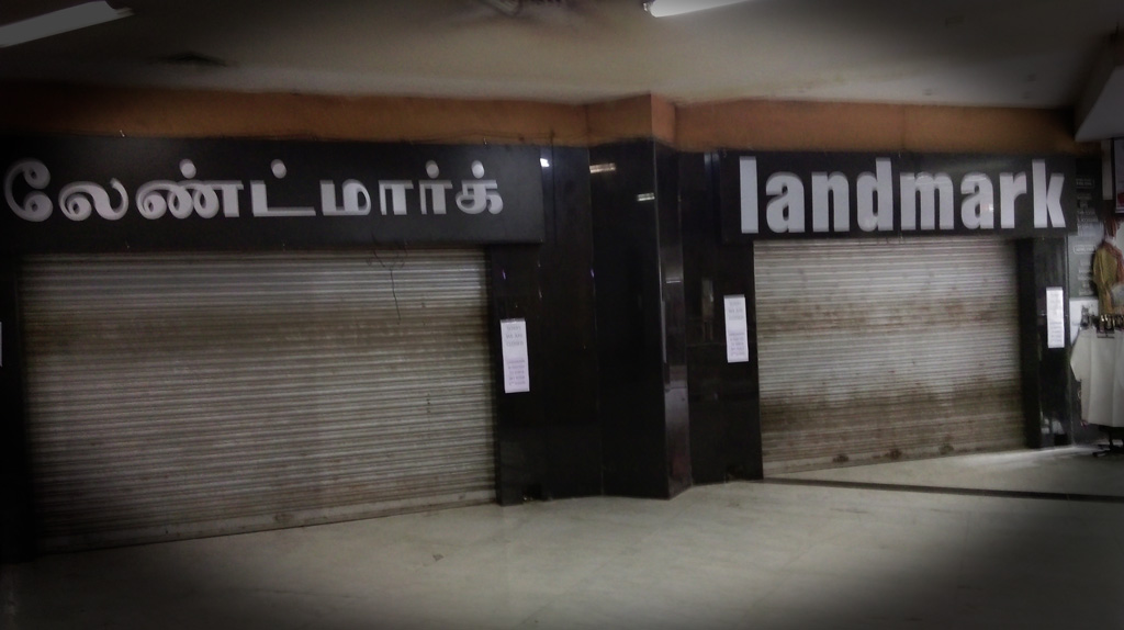 Landmark store at Spencers Mall closed