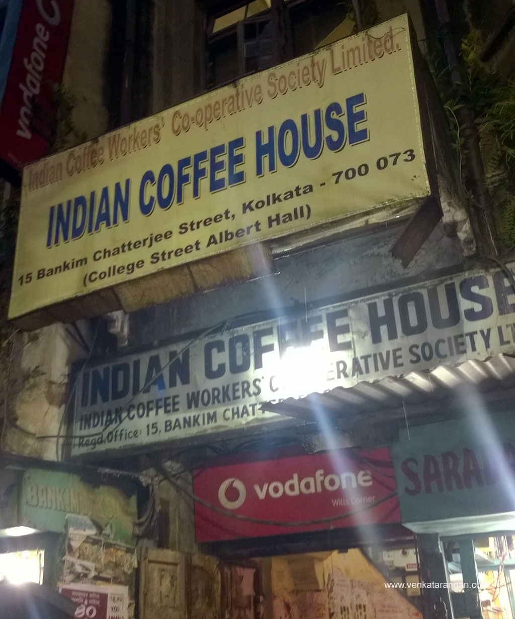 Entrance of Indian Coffee House