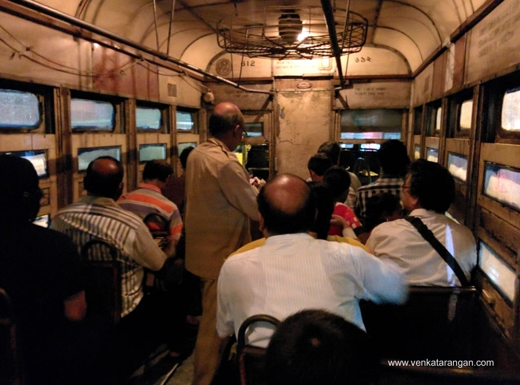 Inside of Tram, old and aging