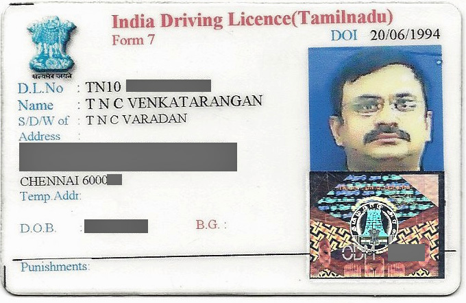 Image result for tamilnadu drivers license