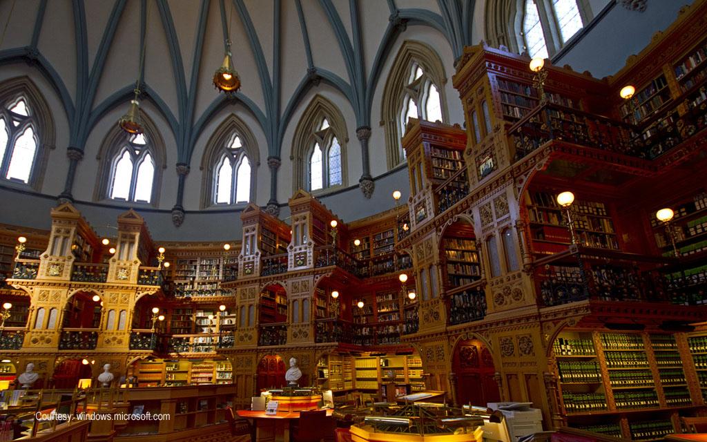 Main reading room, Library of Parliament, Ottawa, Ontario, Canada