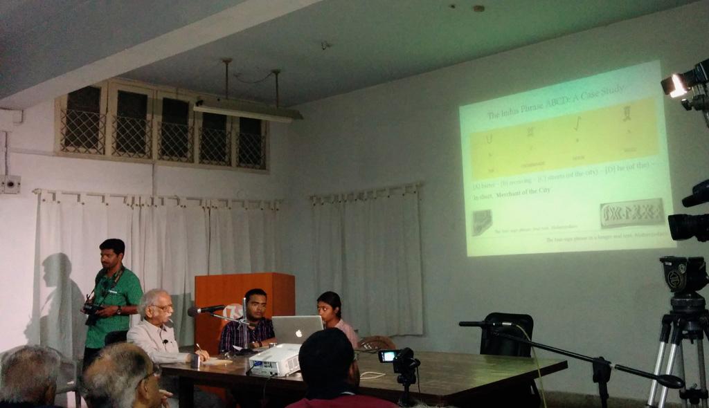 Mr.Iravatham Mahadevan presenting - 14 Nov 2014