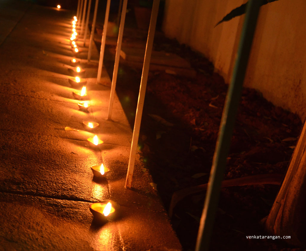 It's a site to behold to see rows of oil lamps glowing
