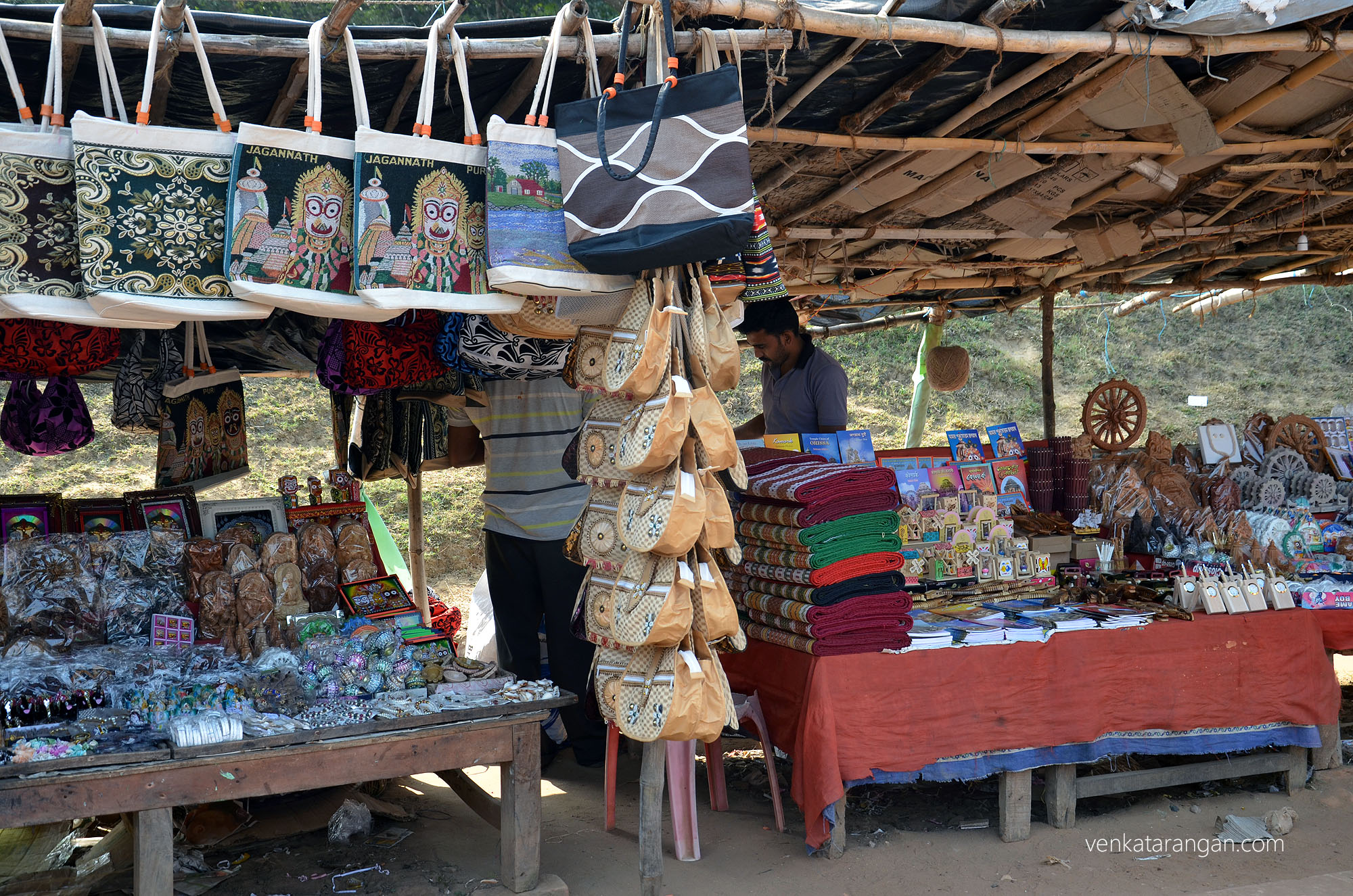 Shops on the way to Konark Sun temple