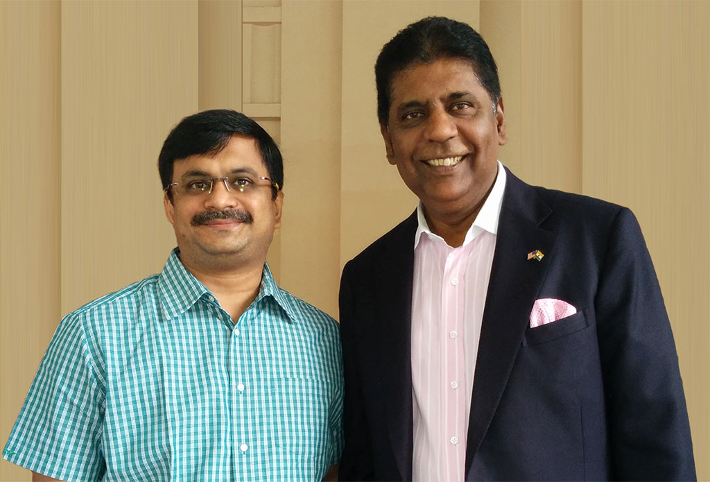 with Indian Tennis legend Vijay Amritraj