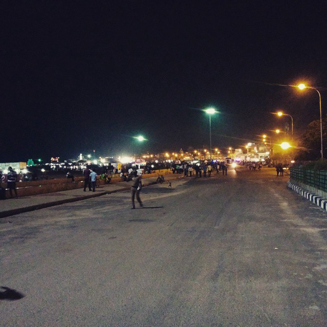 Besant Nagar Elliot's Promenade on eve of New Year 2015